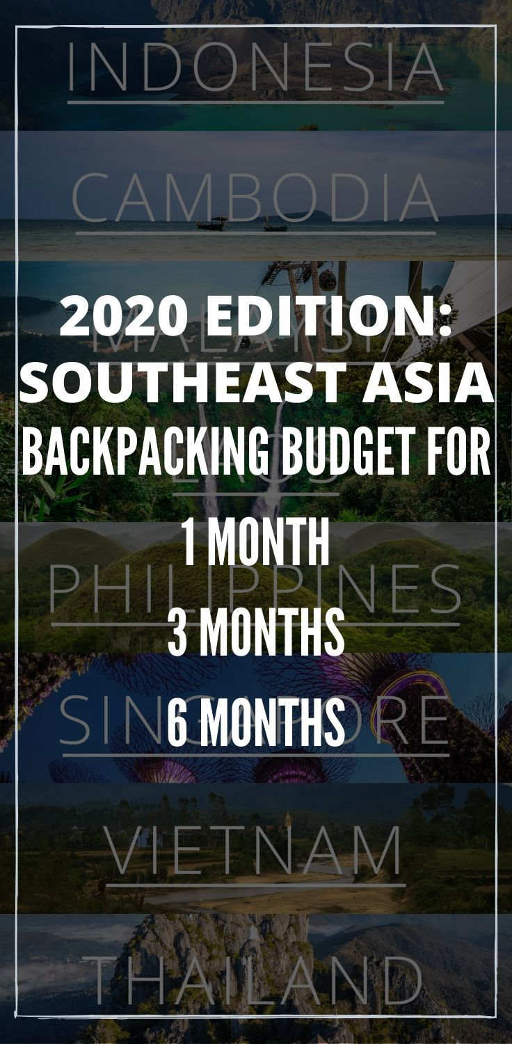 Traveling to Southeast Asia in 2020? Here's how much you should budget for a 1 month, 3 month or 6 month backpacking trip around Southeast Asia. With cost breakdown on transportation, accommodation, food, activities, plus insider tips on how to save money! #SoutheastAsia