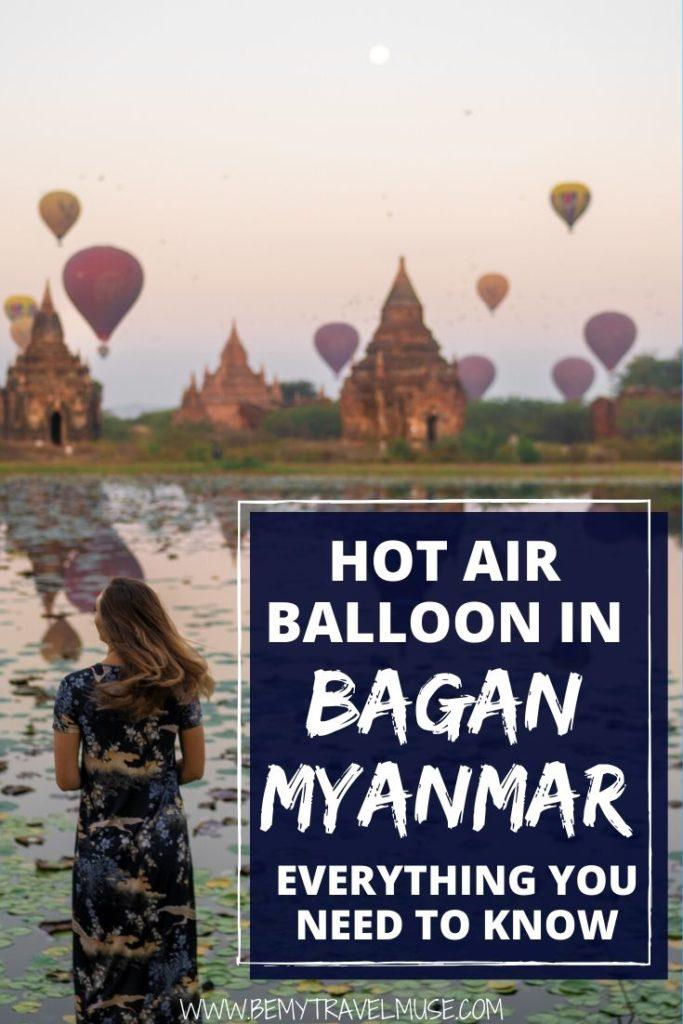 Considering taking a hot air balloon ride in Bagan, Myanmar? Here's everything you need to know, including the cost, best company to book your flight, plus photography tips! #Bagan #Myanmar