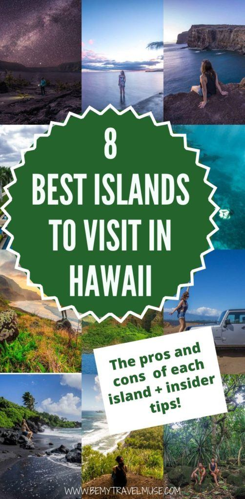 A complete breakdown on the pros and cons of each visitable island in Hawaii, including Oahu, Maui, Big Island of Hawaii, Kauai, Lanai, Molokai, Niihau and Kahoolawe, to help you decide which island is perfect for your travel style, and plan the best trip to Hawaii. #Hawaii