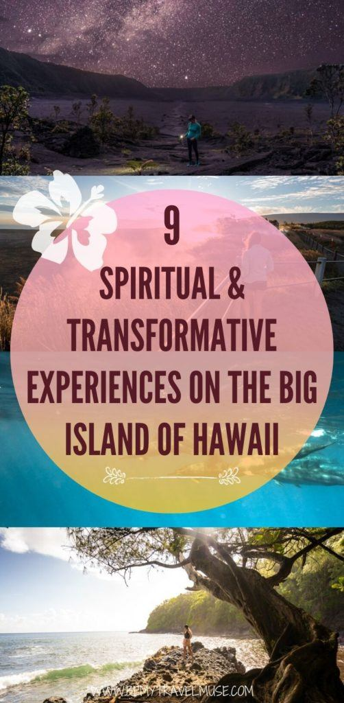 Looking for a spiritual and transformative experience on the Big Island of Hawaii? Here are 8 amazing things to do, including joining retreats, staying in a treehouse, and so much more. If you are visiting Hawaii, and want a more spiritual experience, this post is perfect for you! #Hawaii