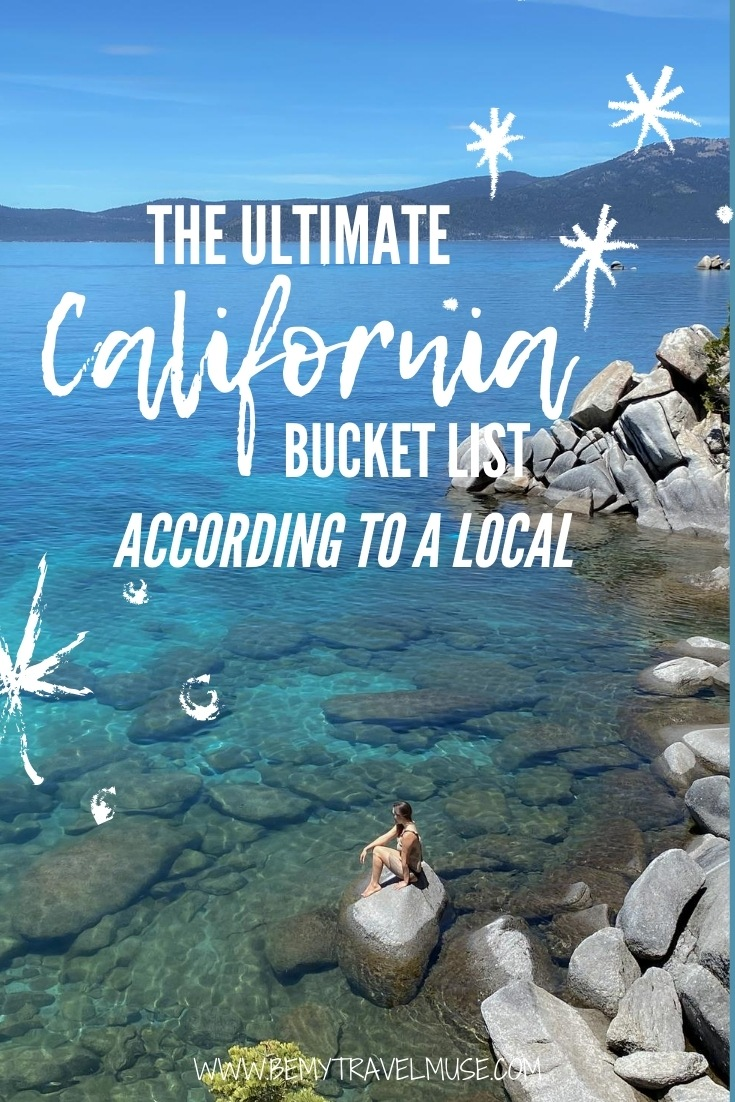 This is the perfect California bucket list, with 23 amazing things to do, as recommended by a local! If you are planning a trip to California, be it a road trip or a week-long vacation, this list will help you plan the best California itinerary! #California