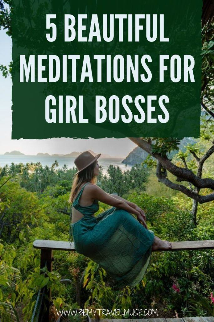 Here are 5 beautiful guided meditations perfect for entrepreneurs, especially my fellow girl bosses! They help thousands of people stay focused, reassured, clarified and motivated, and are all easy and simple to follow through, so even if you are a beginner, you will find these guided meditations helpful! #Meditation
