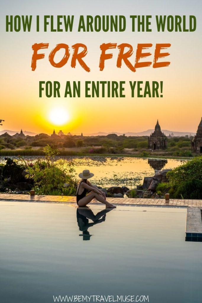 Here are all of my best tips and hacks that helped me fly around the world FOR FREE for an entire year. Learn how you can fly internationally, in business class, for free!