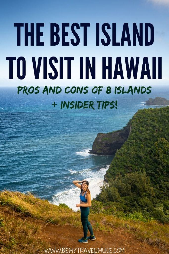Visiting Hawaii soon? If you are wondering which island in Hawaii is the best to visit, this article is for you! A complete breakdown of the pros and cons of each island, including Oahu, Maui, Big Island of Hawaii, Kauai, Lanai, Molokai, Niihau and Kahoolawe, will help you figure out which island is the best for your travel style.