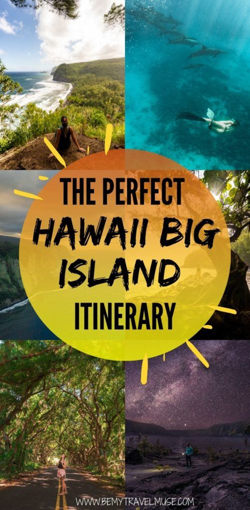 The perfect Hawaii Big Island itinerary with a complete list of awesome things to do and places to see. Use this guide to plan your trip that's filled with beaches, mountains, waterfalls, lookout points and volcanoes! #Hawaii