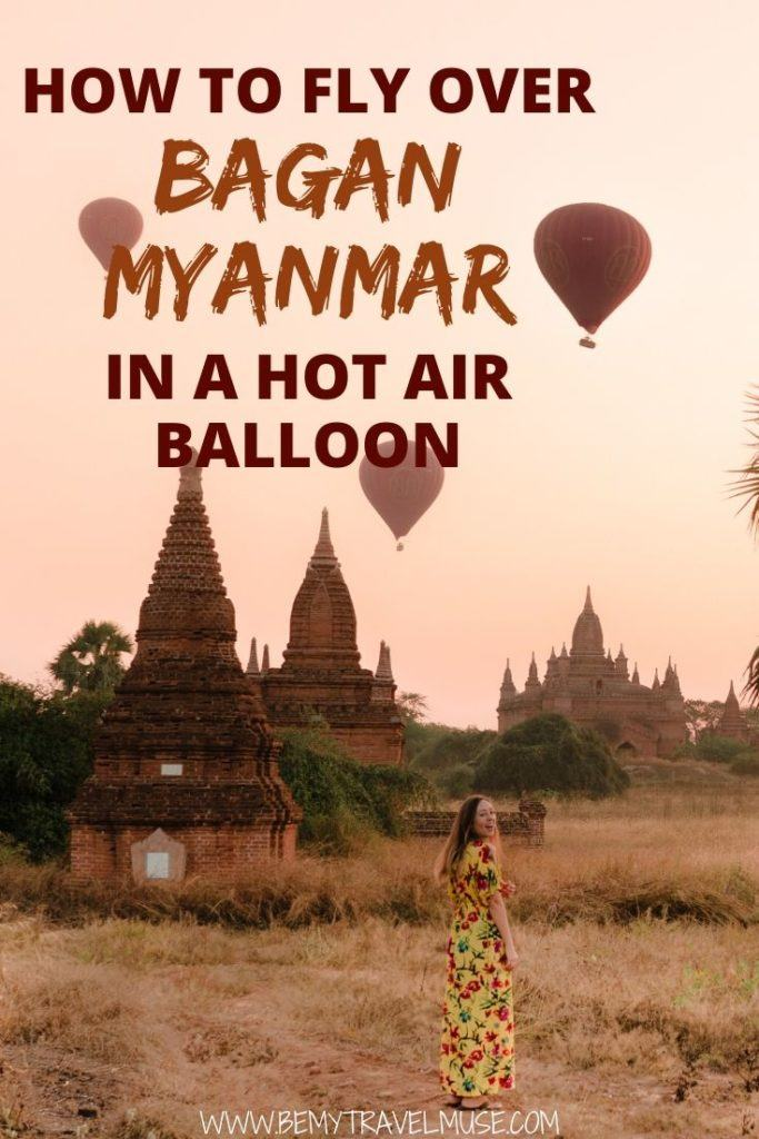 Here's everything you need to know about flying over Bagan, Myanmar, in a hot air balloon. Click to find out how much it costs and where you should book it.
