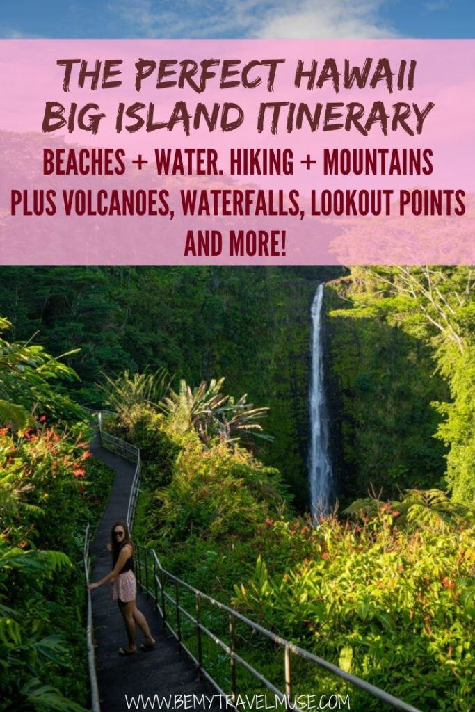 Planning a trip to Hawaii? I've spent 3 weeks on the big island and here is a complete list of things to do and places to see to help you out with your Hawaii itinerary! #Hawaii