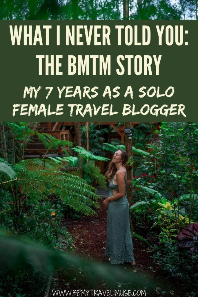 Are you a new travel blogger? I have been travel blogging and living a remote and nomadic lifestyle for the most part in the last 7 years, and here's the full Be My Travel Muse story - everything I've gone through, the wins and the struggles as a solo female travel blogger that may inspire or help you kickstart this journey. #TravelBloggers