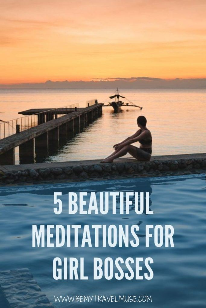 Many entrepreneurs meditate on a daily basis. It is a powerful way to stay motivated, focused, reassured and clarified. Here are 5 beautiful guided meditations that are perfect for entrepreneurs, especially my fellow girl bosses! #Meditation