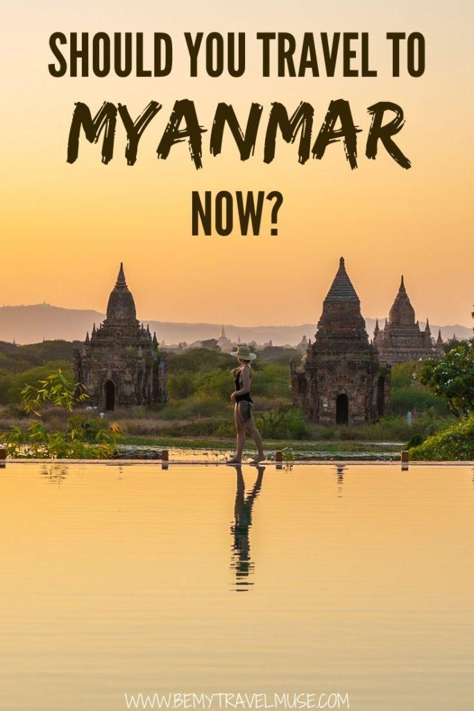 Should anyone travel to Myanmar now? My thoughts on the ethnic cleansing, observation of the locals, and findings of travel boycotts. Click to read and decide if you'd travel to a controversial travel destination like Myanmar. #Myanmar