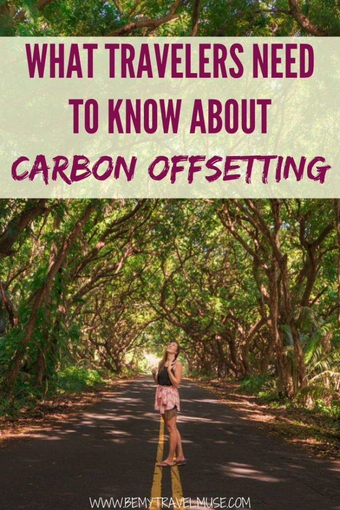 Here's what travellers need to know about carbon offsetting to be a greener traveler in 2020. Learn how you can carbon offset, how to pick the right company and get all of the best resources! #CarbonOffset
