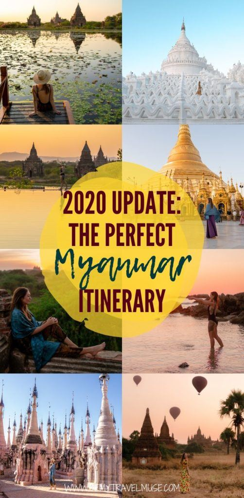 Planning a trip to Myanmar in 2020? This is a wonderful, updated itinerary to help you plan the best trip ever. See the best stops all over the country, including Yangon, Inle Lake, Bagan, Mandalay, plus off the beaten path spots like Hsipaw, Ngapali, and a local festival. Get tips on getting around, accommodation, and more. #Myanmar