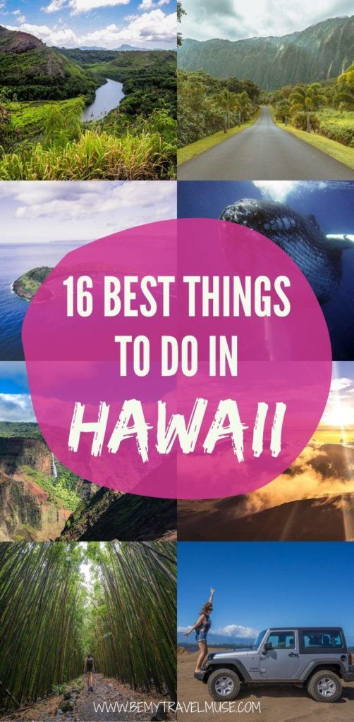 Hawaii travel bucket list: 16 best things to do in Hawaii, including visiting the most beautiful waterfalls, beaches, mountains, and so much more. Use this list to plan the best Hawaii itinerary! #Hawaii