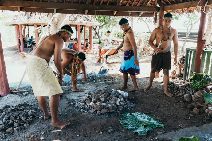 10 top things to do in Samoa - Cultural Village Umu prep