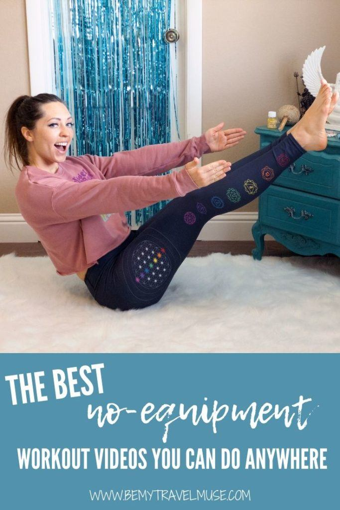 These are the best no-equipment workout videos you can do anywhere, some of them don't even need a mat! Get toned and healthy with these fun workout, dance, and yoga tutorials that are free. From beginner, intermediate to advance level, you will find something perfect for you from the list. #WorkOut