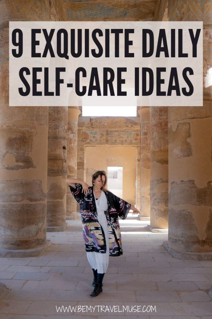 What is self-care, and what are some of the things you can do at home that will reduce stress and keep a healthy and happy lifestyle? Here are 9 exquisite self-care ideas to help you out! #Self-care