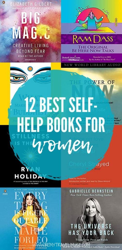 Here are 12 of the best self-help books for women. Authors include Elizabeth Gilbert, Marie Forleo, Gabrielle Bernstein and more. If you are looking for books that will help you improve your life, make you happier, click to check them out now. All books recommended are available in audiobooks! #SelfHelp