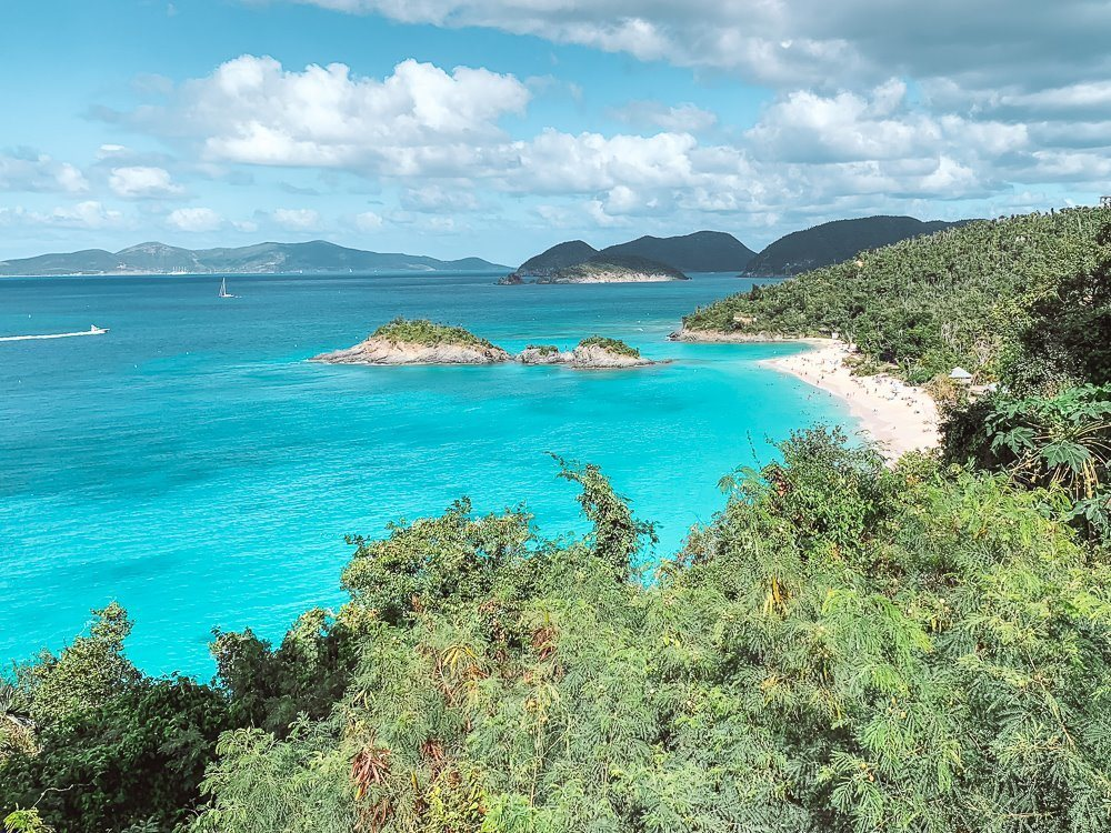 famous trunk bay overlook of large trunk bay beach in virgin islands national park