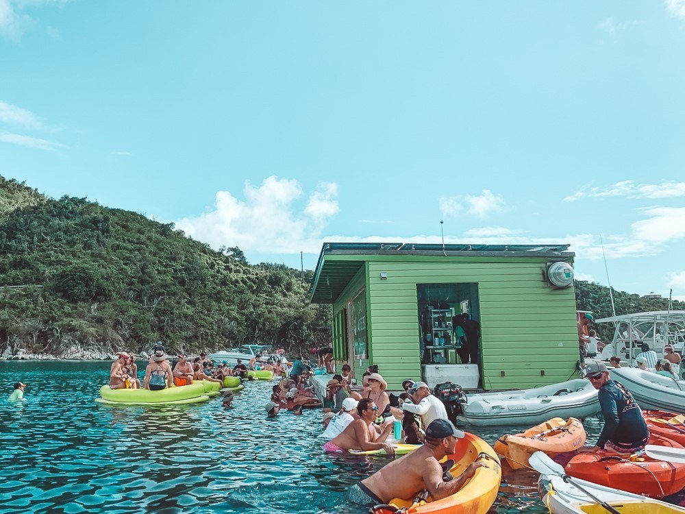 lime out floating taco bar in virgin islands national park