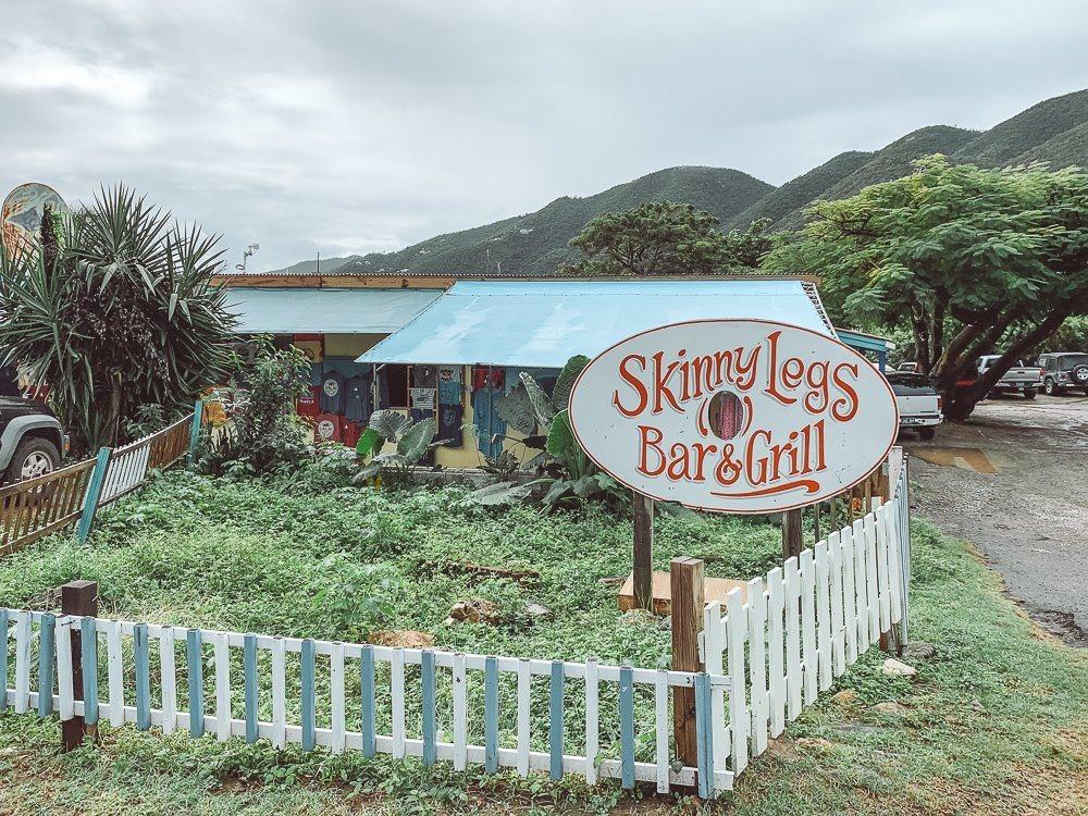 exterior of skinny legs restaurant in st john usvi
