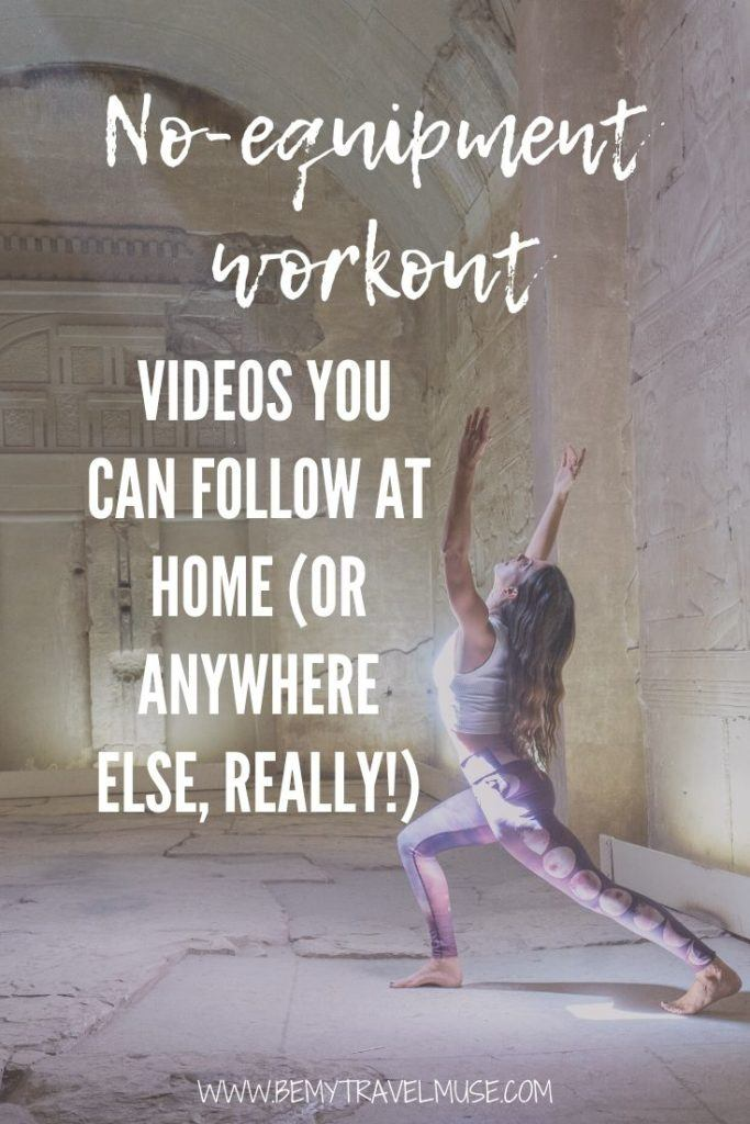 The best of the best no-equipment workout videos you can follow along from the comfort of your own home, or anywhere else, really! Perfect for people on the go, long-term travellers, or anyone who's not a fan of the gym. On the list includes Blogilates, POPSUGAR Fitness, and more. #Workout