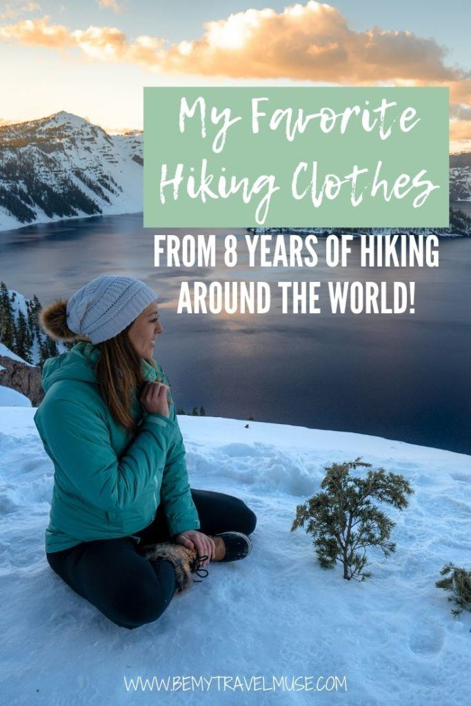 Here are some of my favorite, most durable, comfortable yet stylish hiking clothes from 8 years of hiking around the world. If you are shopping for hiking clothes that will last you years and keep you looking and feeling fresh while hiking, this list is perfect for you!