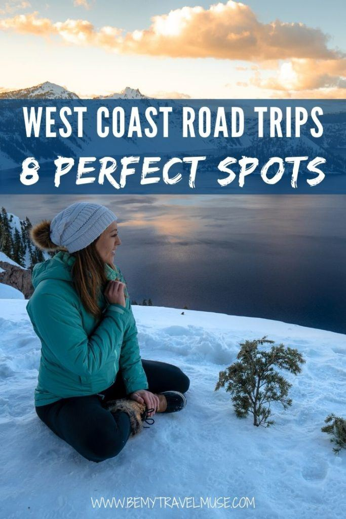 Dreaming of an epic road trip in the west coast? Here are 8 gorgeous spots that are all bucket list worthy, including California, Pacific Coast Highway, Oregon, Washington, and more. Check out the detailed itineraries and start planning a gorgeous road trip in the USA! #RoadTrip