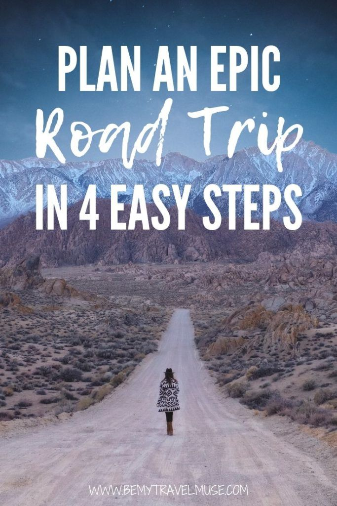 Here's how to plan an epic road trip in 4 easy steps, according a road tripper who has adventured in 5 continents, plus a list of road trip itineraries around the world to get you started! #RoadTrip