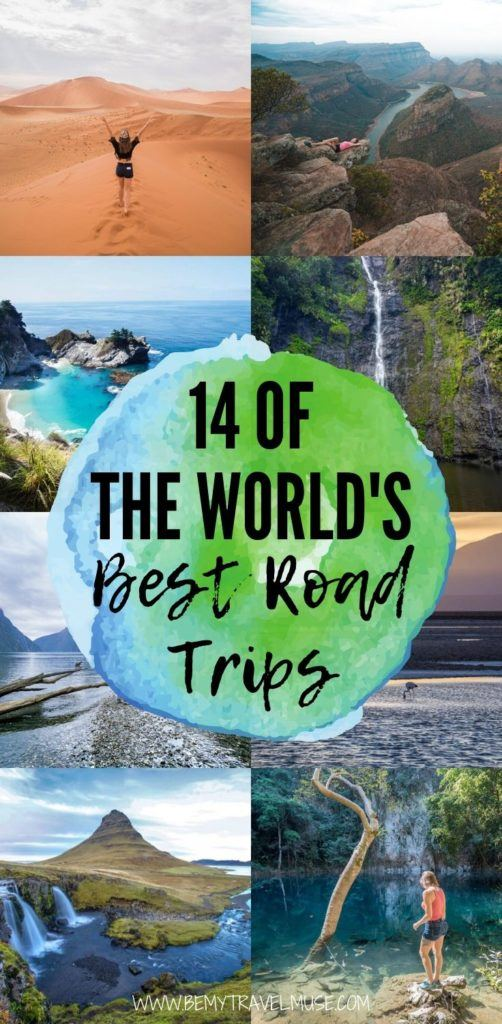 Here are 14 of the best road trips around the world that are absolutely bucket list worthy! See road trip itineraries for Tanzania, Namibia, Thailand, Aruba, New Zealand, Germany, the United States, Iceland, and more! #RoadTrips