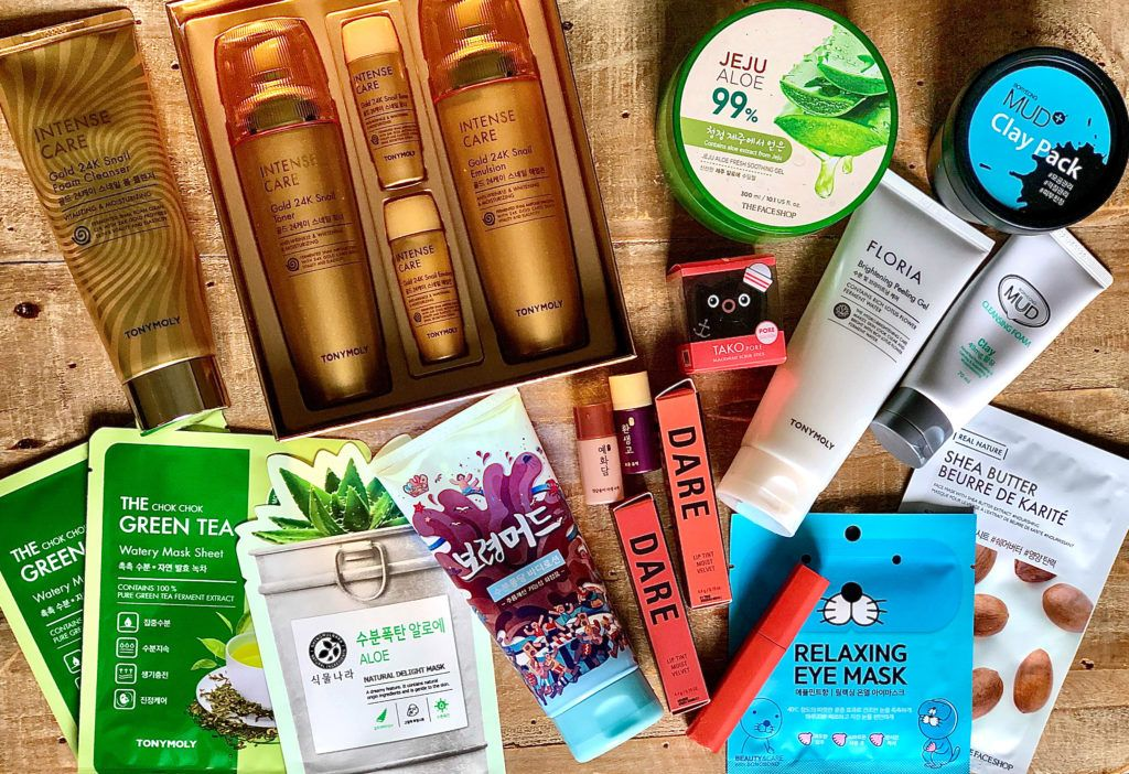 South Korean cosmetics and skincare products