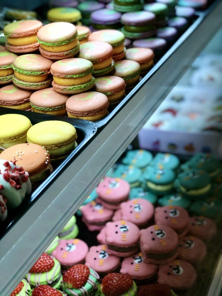 Macarons from cafe in South Korea