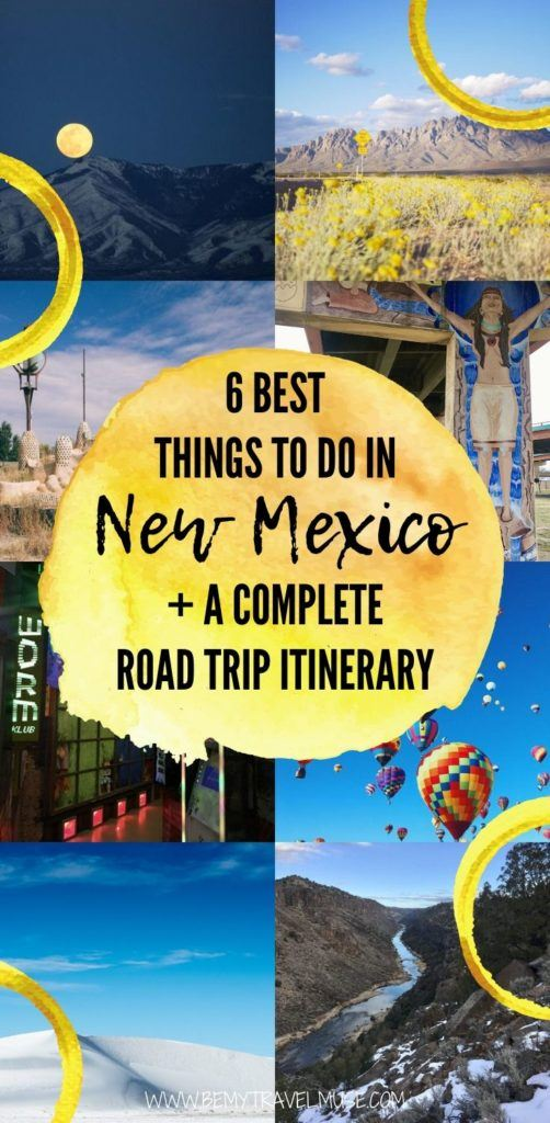 Here are the 6 best things to do in New Mexico, plus a complete road trip itinerary to help you plan an epic adventure in New Mexico! Explore the best of Las Cruces, White Sands National Park, Santa Fe and more with this itinerary. #NewMexico