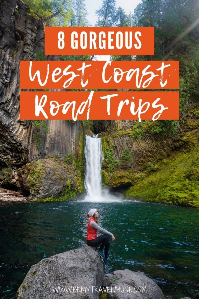 8 gorgeous west coast road trips in the USA to help you explore unique culture, nature, and offbeat adventures. This list includes California, Pacific Coast Highway, Northern California Inland Detour, Oregon, Oregon Coast, Inland Oregon, Washington, Olympic Peninsula, and one bonus stop!