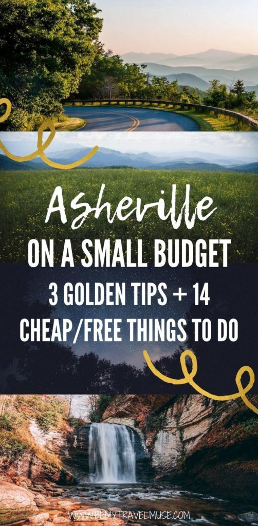 Asheville, North Carolina can be done on a budget. Here are 14 cheap and free things to do in Asheville, plus 3 golden tips you need to know to help you plan an amazing yet affordable trip! #Asheville