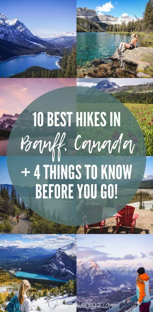 Here are 10 of the best hikes in Banff National Park, Canada, including Parker Ridge, Lake Minnewanka, Mount St. Piran and more. Learn about the time needed, distance, and difficulty of each hike, and 4 important things you must know before you go. #Banff #Canada