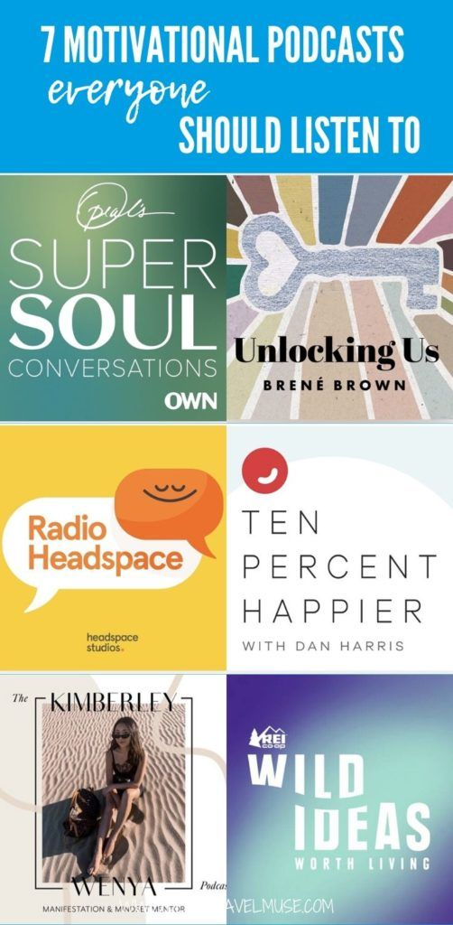 Want to stay motivated? Here are 7 motivational podcasts that everyone should listen to for personal development and beyond. #Podcasts
