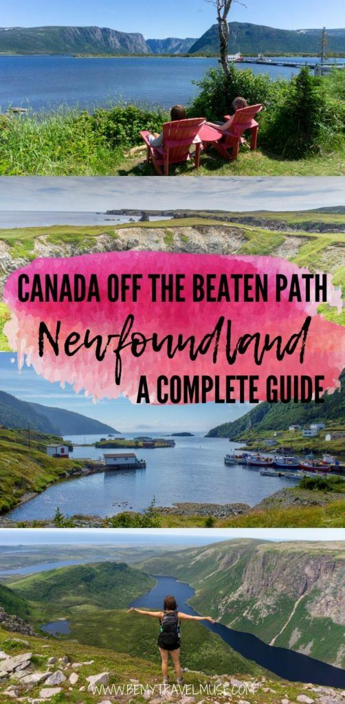 Travel Canada off the beaten path. A complete guide to Newfoundland, with tips from a local! Click to see the top things to do in Newfoundland, and how to get to and around Newfoundland, to plan a wonderful and relaxing trip. #Canada #Newfoundland