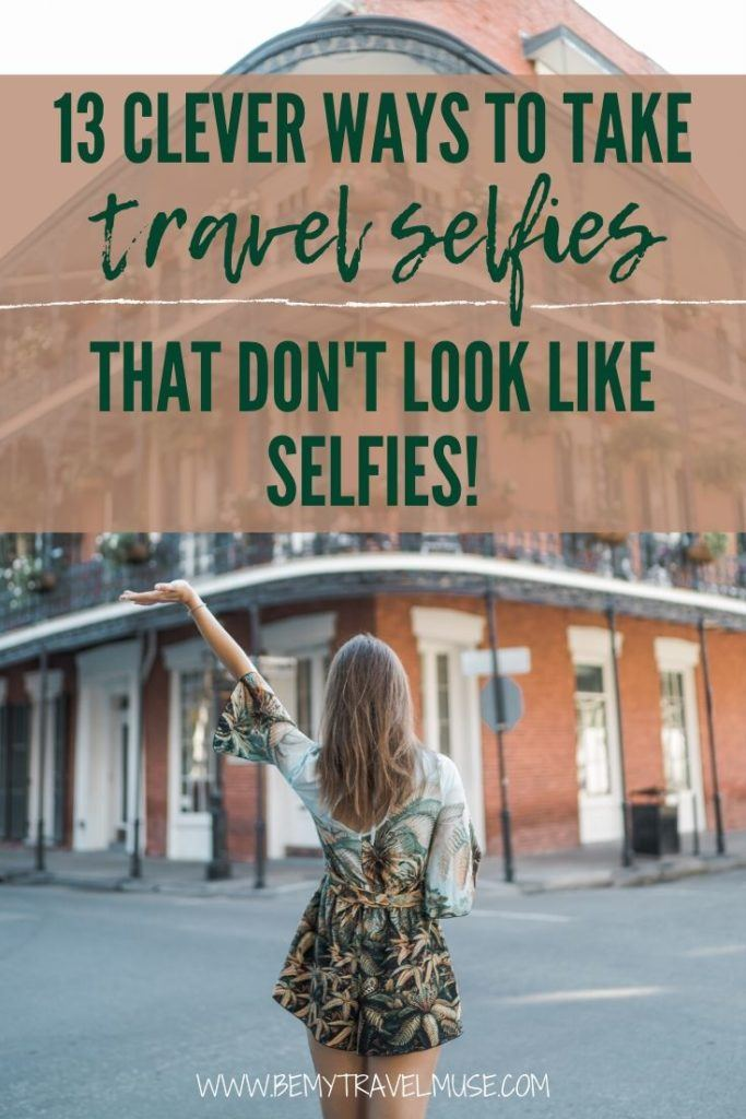 Traveling alone but want to have photos of yourself? Here are 13 clever ways to take travel selfies that DO NOT look like travel selfies at all! Get these tips from a solo female travel blogger and take epic travel photos to document your solo trips!