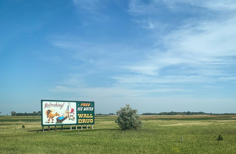 Wall Drug Billboard South Dakota