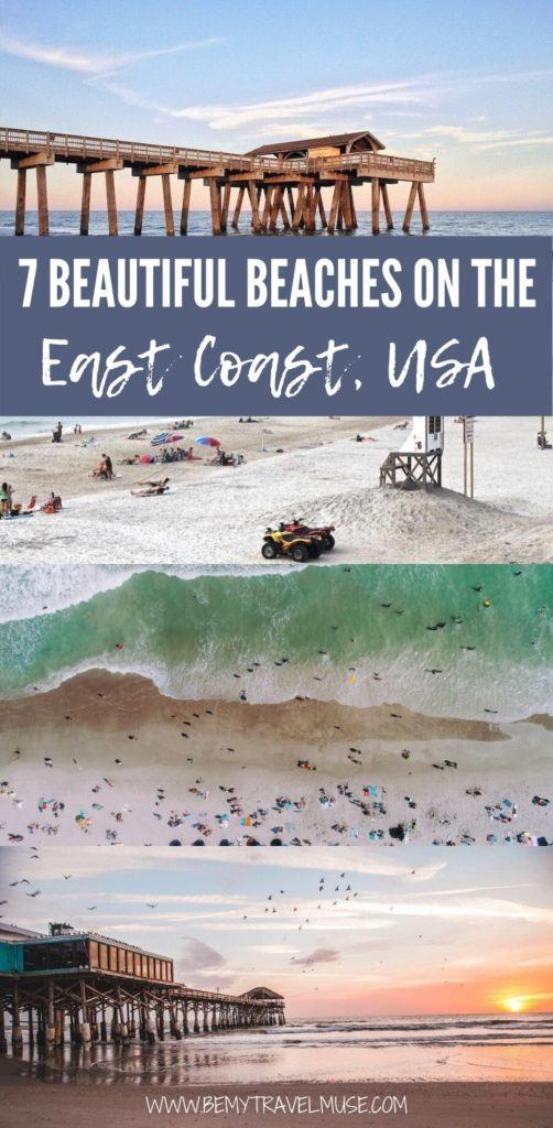 Click to see 7 of the most beautiful beaches on the US east coast, from Maine, New Jersey, Delaware, North Carolina, South Carolina, Georgia, to Florida! Get insider tips and plan a relaxing trip to the beach with this guide!