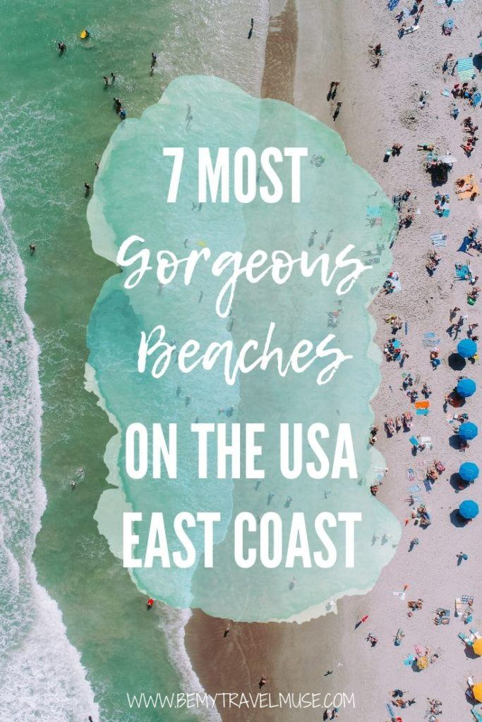 7 most gorgeous beaches on the USA east coast, with insider tips on avoiding the crowds, best things to do in each area, and more. If you are planning a beach trip to Maine, New Jersey, Delaware, North Carolina, South Carolina, Georgia, or Florida, check this guide out!