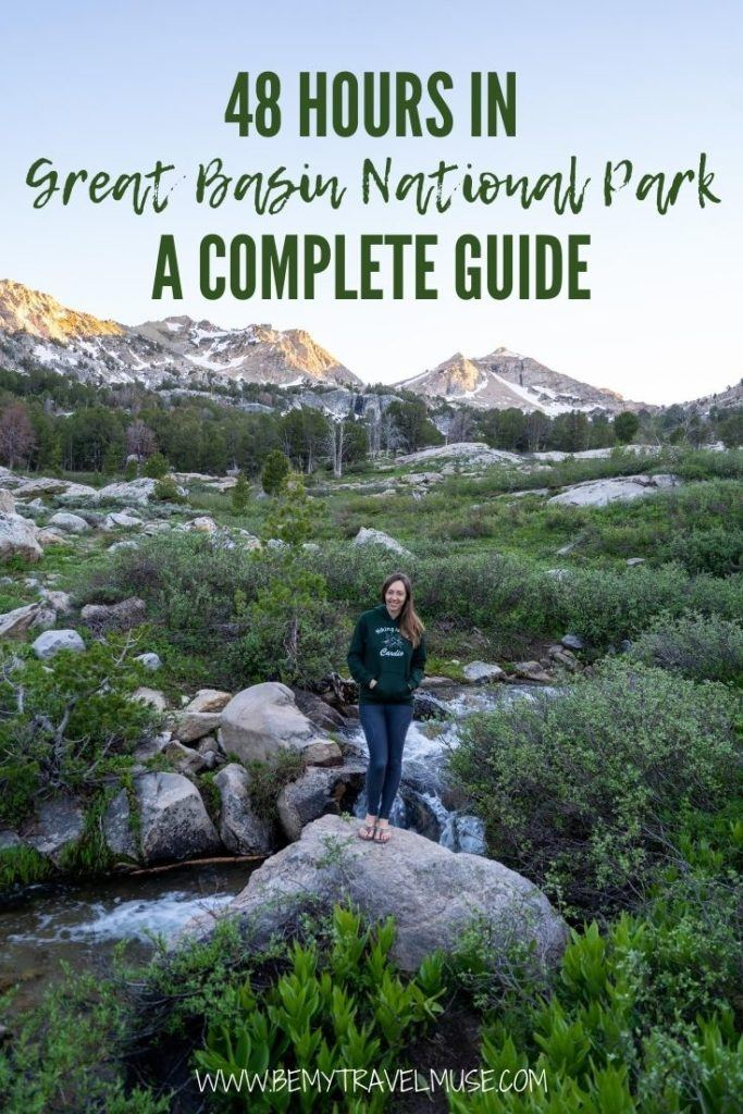 How to spend 48 hours in Basin National Park, Nevada? Here's a complete guide with the best things to do in Basin National Park, where to stay, how to get there, and gorgeous photos to inspire you to do an overnight road trip in Great Basin National Park! #Nevada #GreatBasinNationalPark
