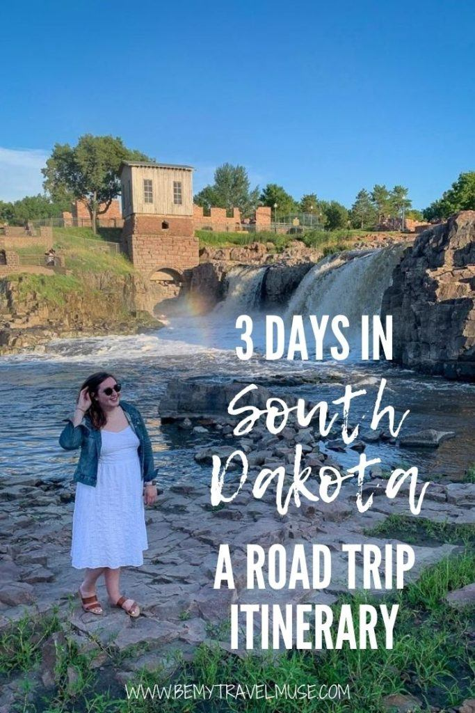 How to spend 3 days in South Dakota? A beautiful road trip! Click for a complete road trip itinerary with all of the best stops in South Dakota, tips on getting there and around, plus accommodation and other important tips to help you plan the best trip to South Dakota. #SouthDakota