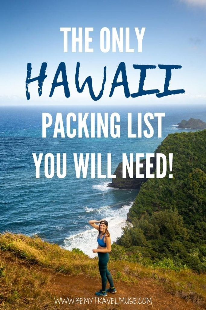Planning a trip to Hawaii? This is the only Hawaii packing list you will need! See what clothes you should bring to Hawaii, get a complete (and mostly environmental-friendly) list of toiletries, and a few things you may not have thought of bringing to Hawaii, but should! #Hawaii