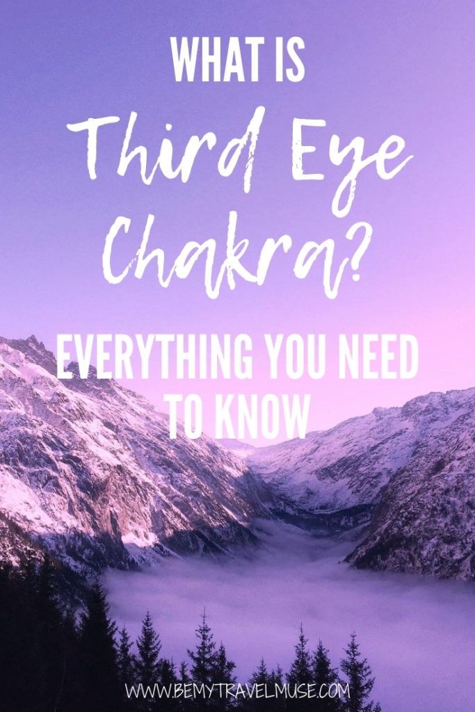 What is third eye chakra? Here's everything you need to know, including the third eye chakra's location and meaning, ways to keep it balanced, things to do when it is out of balance, words of affirmations to strengthen your third eye charka. #ThirdEyeChakra