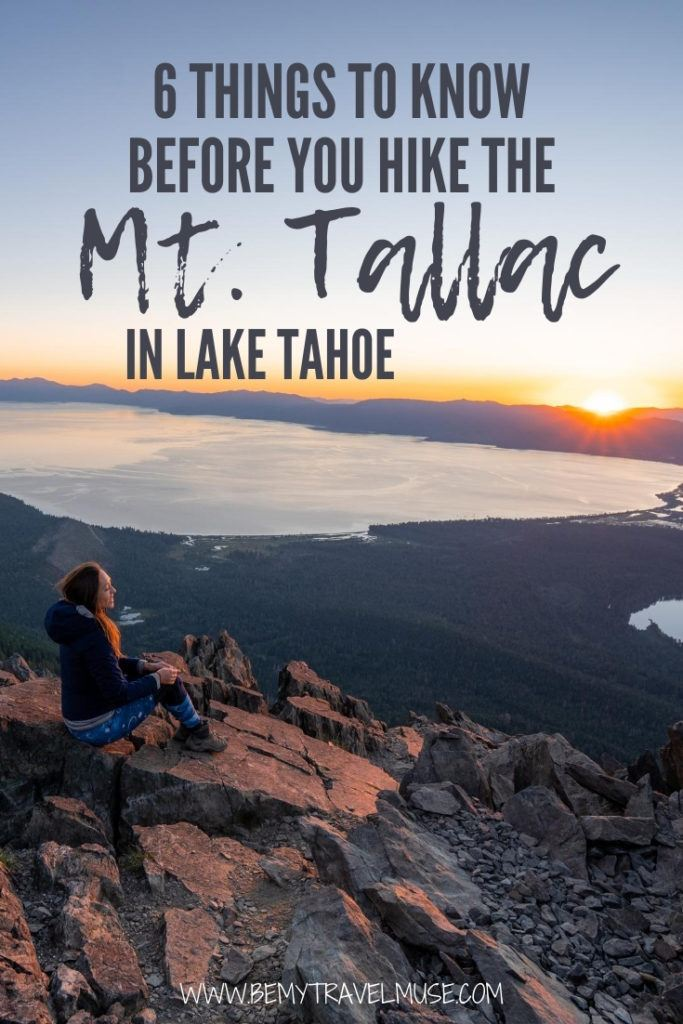 Do not go to Mount Tallac in Lake Tahoe without knowing these 6 important things! Read this post to ensure that you are fully prepared for your hike to Mount Tallac. #MountTallac