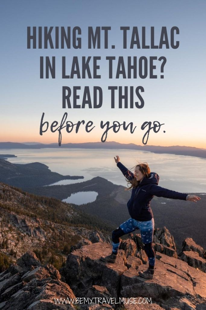 Hiking Mount Tallac in Lake Tahoe? Read this before you go! Click to see the 6 important things you need to know if you are planning a hike to Mount Tallac. #MountTallac