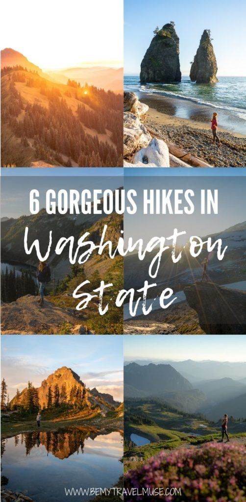 6 gorgeous hikes in Washington State that you can't miss, including the Skyline Trail, the Pinnacle Peak Saddle, Sunrise Viewpoint, Maple Pass, Lake Ingalls, and more. Get insider tips and plan your hiking trip to Washington now. #Washington