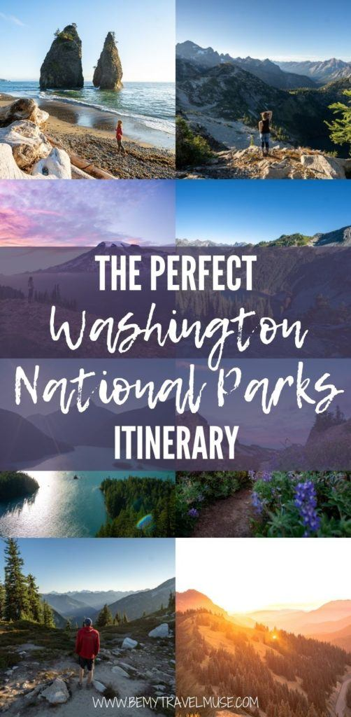 Visiting Washington? Here is the perfect Washington national park itinerary to help you plan an awesome outdoor adventure! See the best things to do in Mount Rainier National Park, Olympic National Park and North Cascades National Park, plus tips on accommodation to make planning easy! #Washington