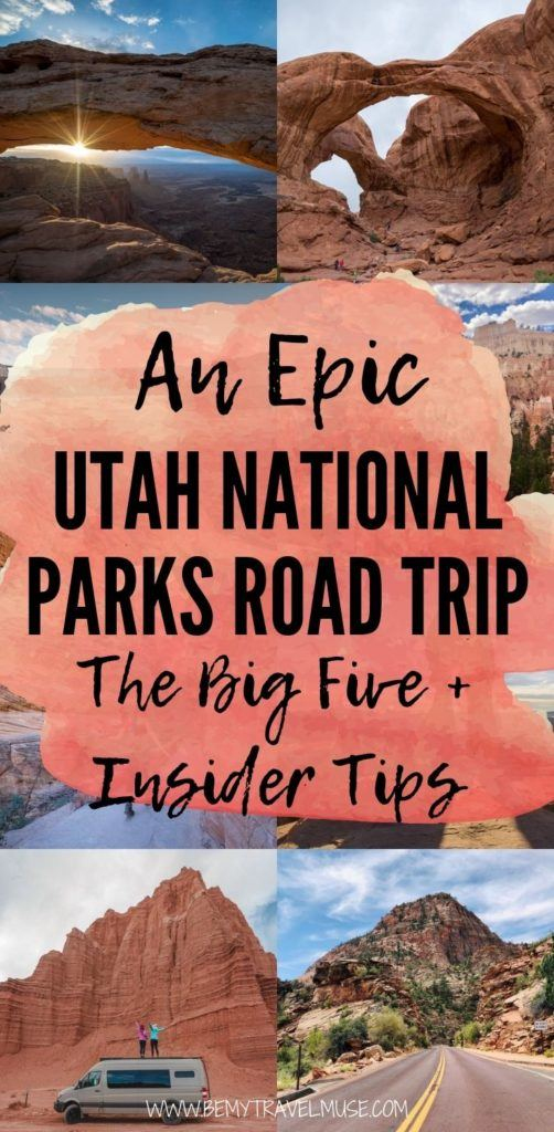 Planning an epic Utah Big Five road trip? Here's a 2020 guide to the best Utah national parks road trip, with the latest updates and insider tips on each national parks (Arches, Bryce Canyon, Canyonlands, Capitol Reef and Zion). #Utah